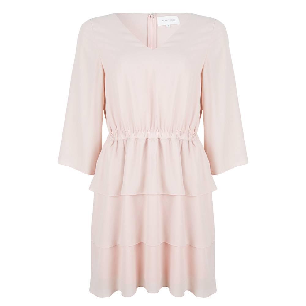 Jacky luxury Dress 3/4 sleeve nude JLSS19073