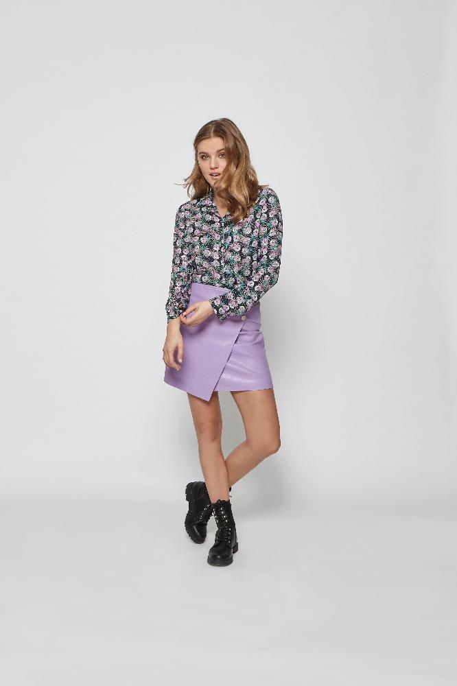 Skirt Lindey leather MB42 LILA