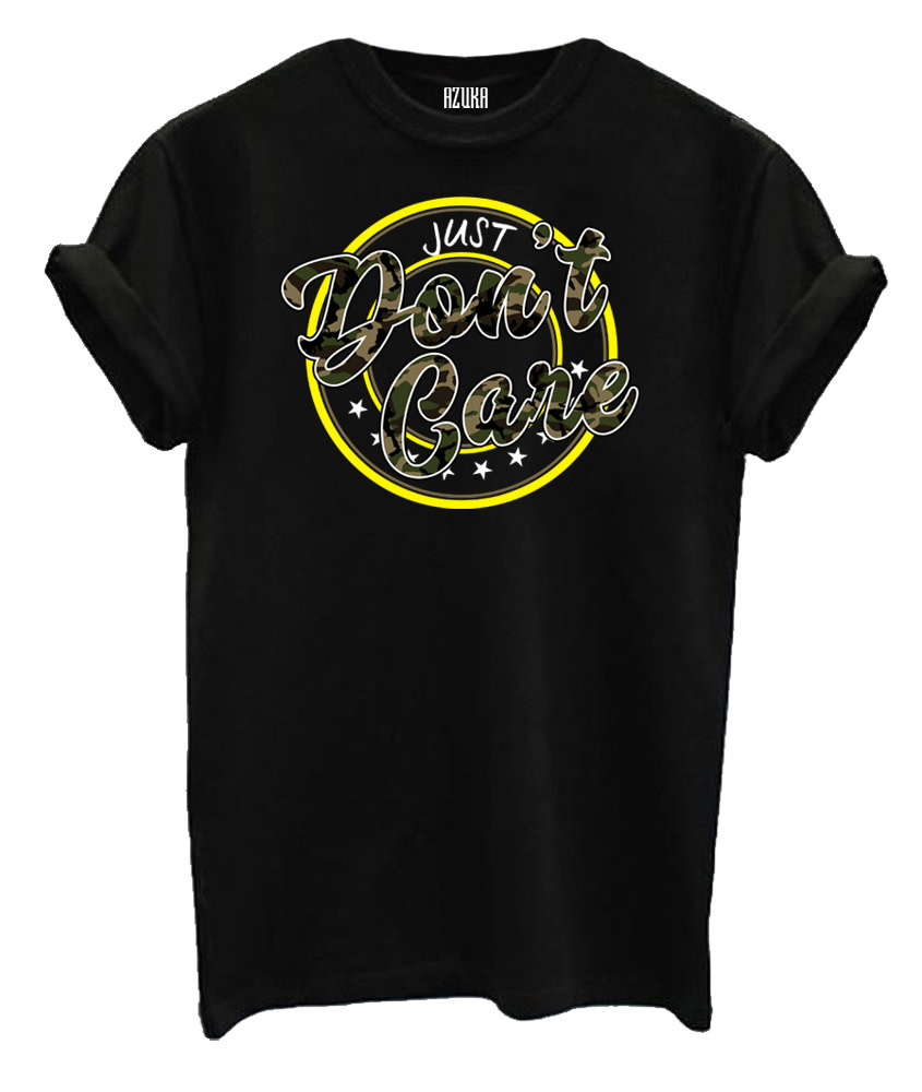 Just don't care shirt black