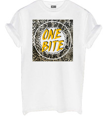 One bite shirt white