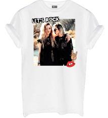 Let's rock shirt white