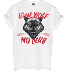 Lone wolf no club white