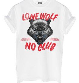 Lone wolf no club white