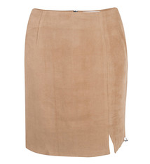 JLFW19070 suede skirt camel