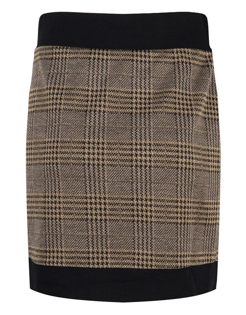 JLFW19068 Skirt check print