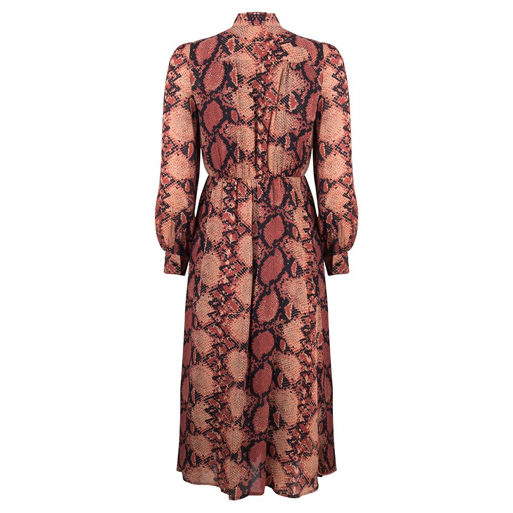 JLFW19113 snake print dress maxi