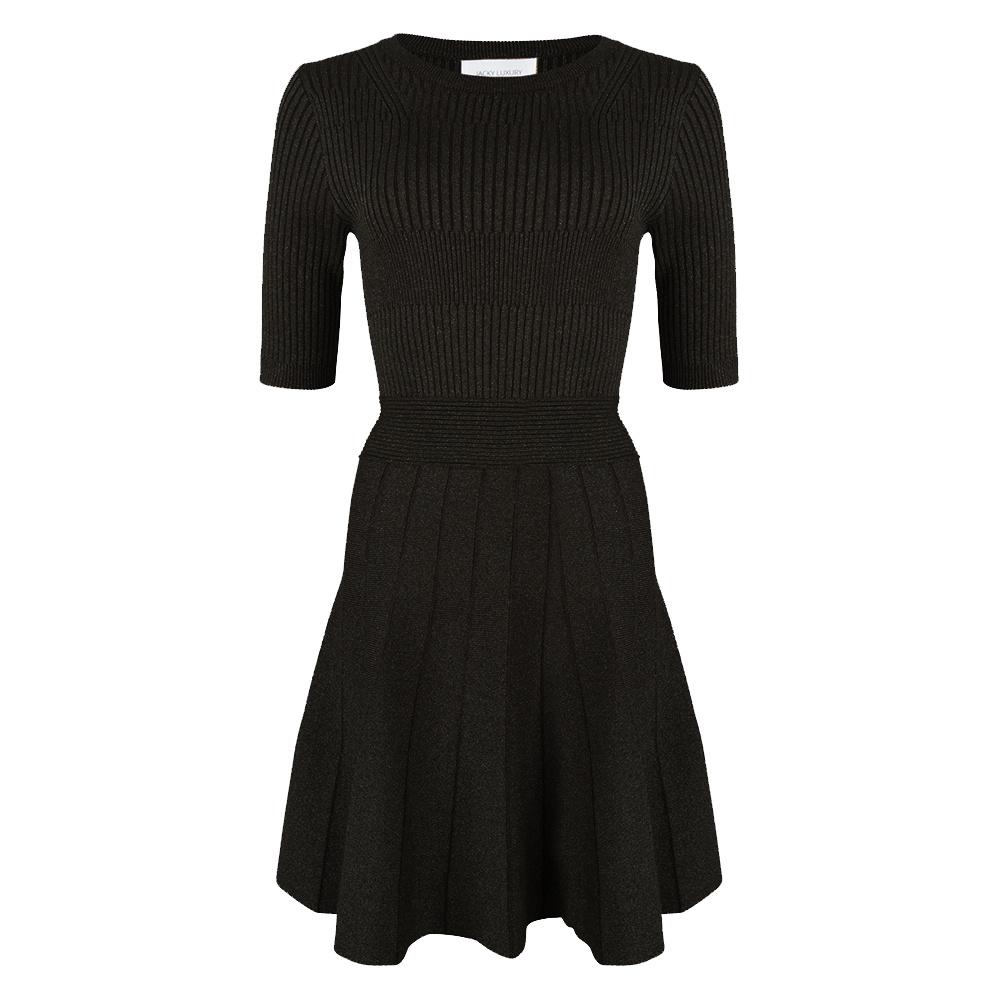 JLFW19037 Dress knit black