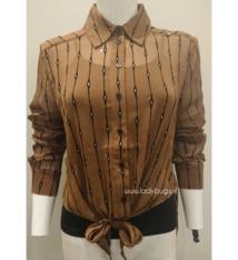 Elli blouse Glamorous 2168 brown