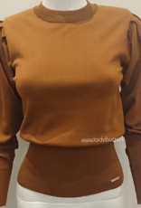 Linsey knit Glamorous 8530 brown - rust