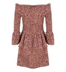 DRESS OFF SHOULDER JLSS19072 leopard pink