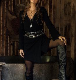Moost Wanted Zen Knitted Wrap Dress black