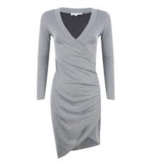 JLFW19088 Dress rib black silver
