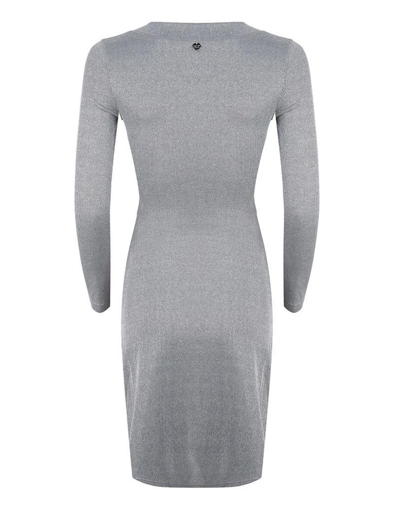 Jacky luxury JLFW19088 Dress rib black silver