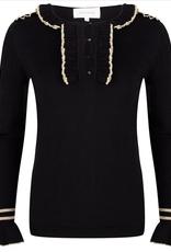 JLFW19142 Top knit lurex details black