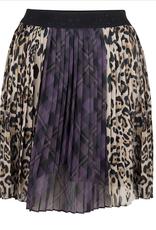Plisse rok ruit, blokken, leopard JLFW19155