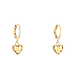 Be kind heart earrings MEERDERE KLEUREN