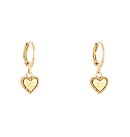 Sieraden by Ladybugs Be kind heart earrings MEERDERE KLEUREN