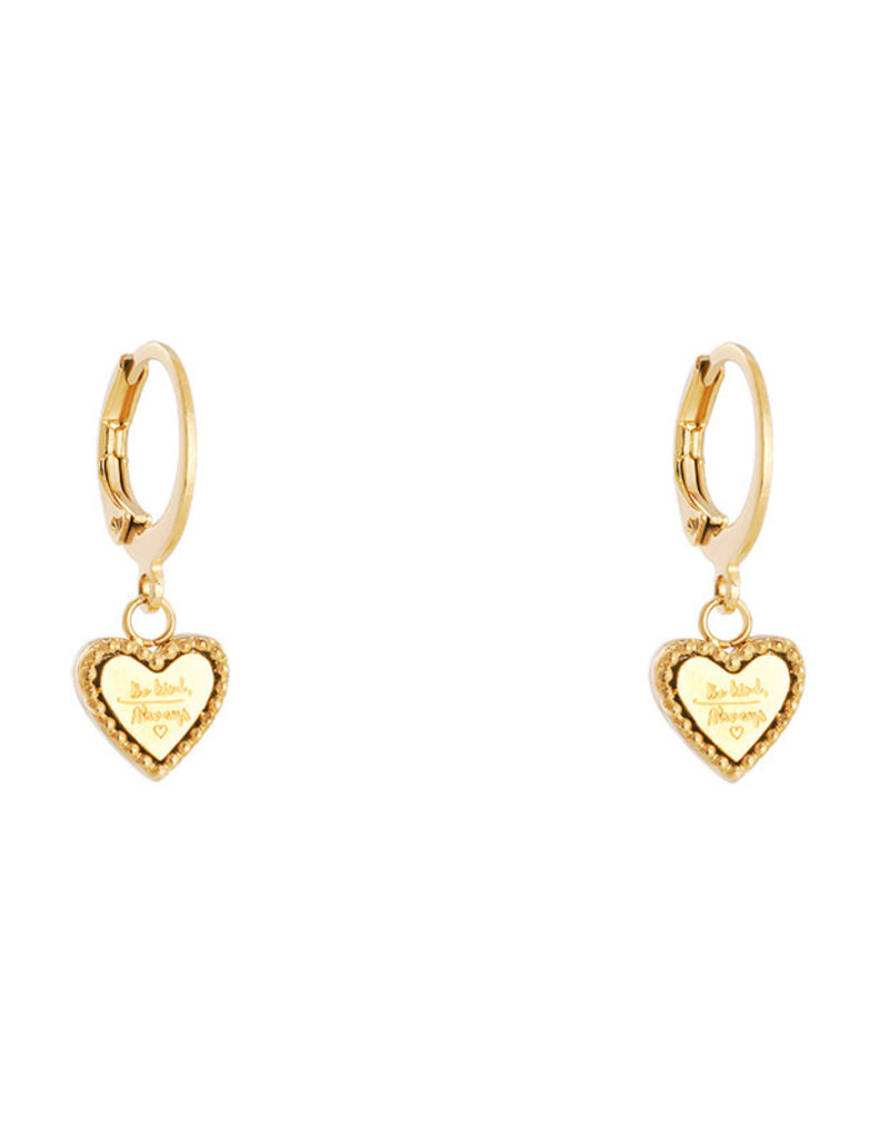 Be kind heart earrings MEERDERE KLEUREN