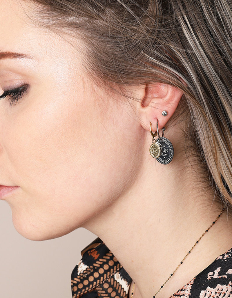 Sieraden by Ladybugs Live life earrings MEERDERE KLEUREN