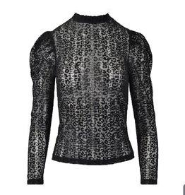 Mesh top velvet leopard 1093-1