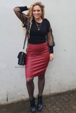Ladybugs 12388 Red Leather skirt.