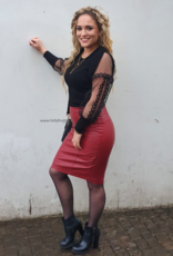 12388 Red Leather skirt.