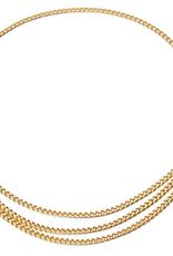 Ladybugs Chain belt goud&zilver  95cm