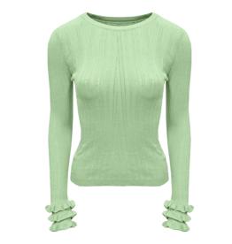 Ladybugs HT5367 Ruffel sleeve knit MINT