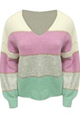 Ladybugs SH011P Striped sweater Vneck ONE SIZE