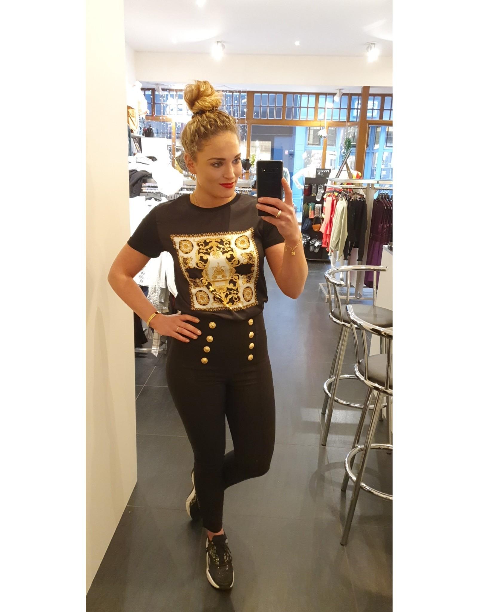 Ladybugs 8934J Versace shirt BLACK
