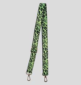 Pinned by K Bag & phone Strap leopard neon groen 0-4623