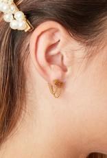 Sieraden by Ladybugs Oorbellen Leopard and Chain