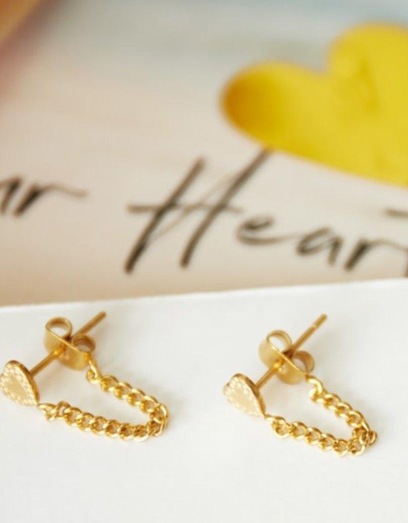 Ladybugs Oorbellen Heart and Chain