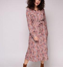 Cluca Faedo dress paisley PINK