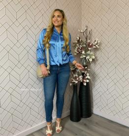 Kiki Six Jeans denim unico BLUE