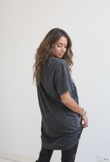 Moost Wanted Faded Eagle T-shirt Dress Stone Grey