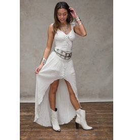 Moost Wanted June Ruffle Top Off White