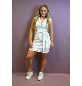Ladybugs H 1227 Denim dress zipper WHITE