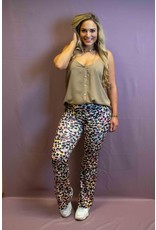Ladybugs Leopard flared pants BY20229 Rosé