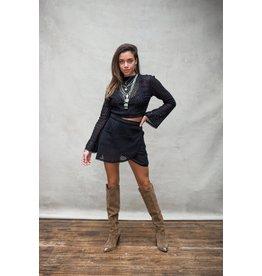Moost Wanted Jolie wrap skirt BLACK
