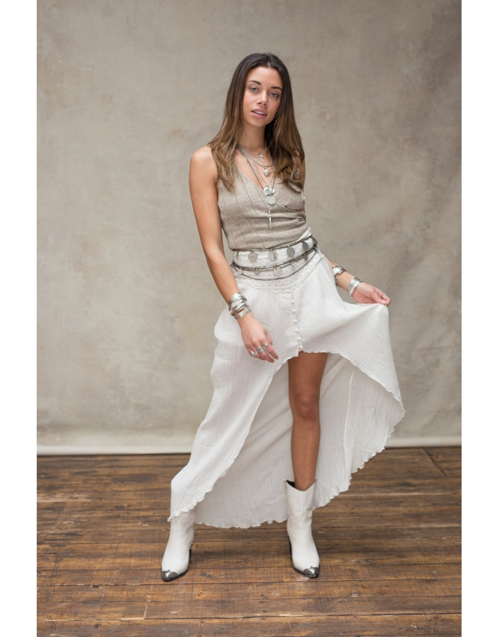 Moost Wanted Soof skirt OFF WHITE