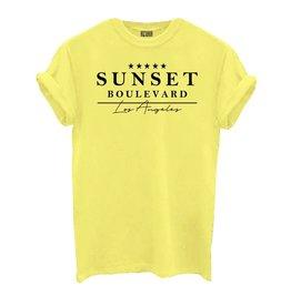 Azuka Sunset boulevard shirt GEEL