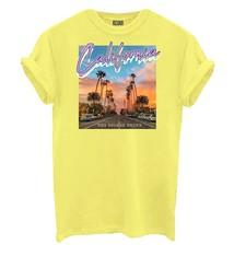 Geel t-shirt Azuka afgeprijsd met print