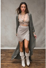 Moost Wanted Dayla knitted wrap skirt Tender taupe