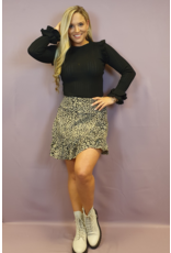 Ladybugs M190 Taupe leopard skirt