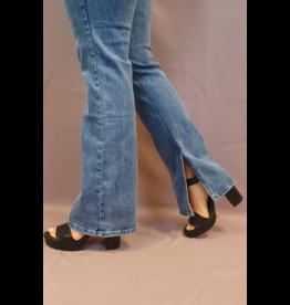 Ladybugs 806 - 1 Flared jeans met split Queen Hearts