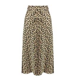Ladybugs AP - 1005 Leopard midi skirt TAUPE