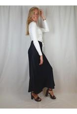 Ladybugs Long satin skirt BLACK