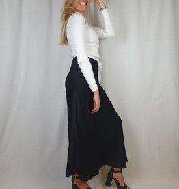 Ladybugs zwarte rok black Long satin skirt