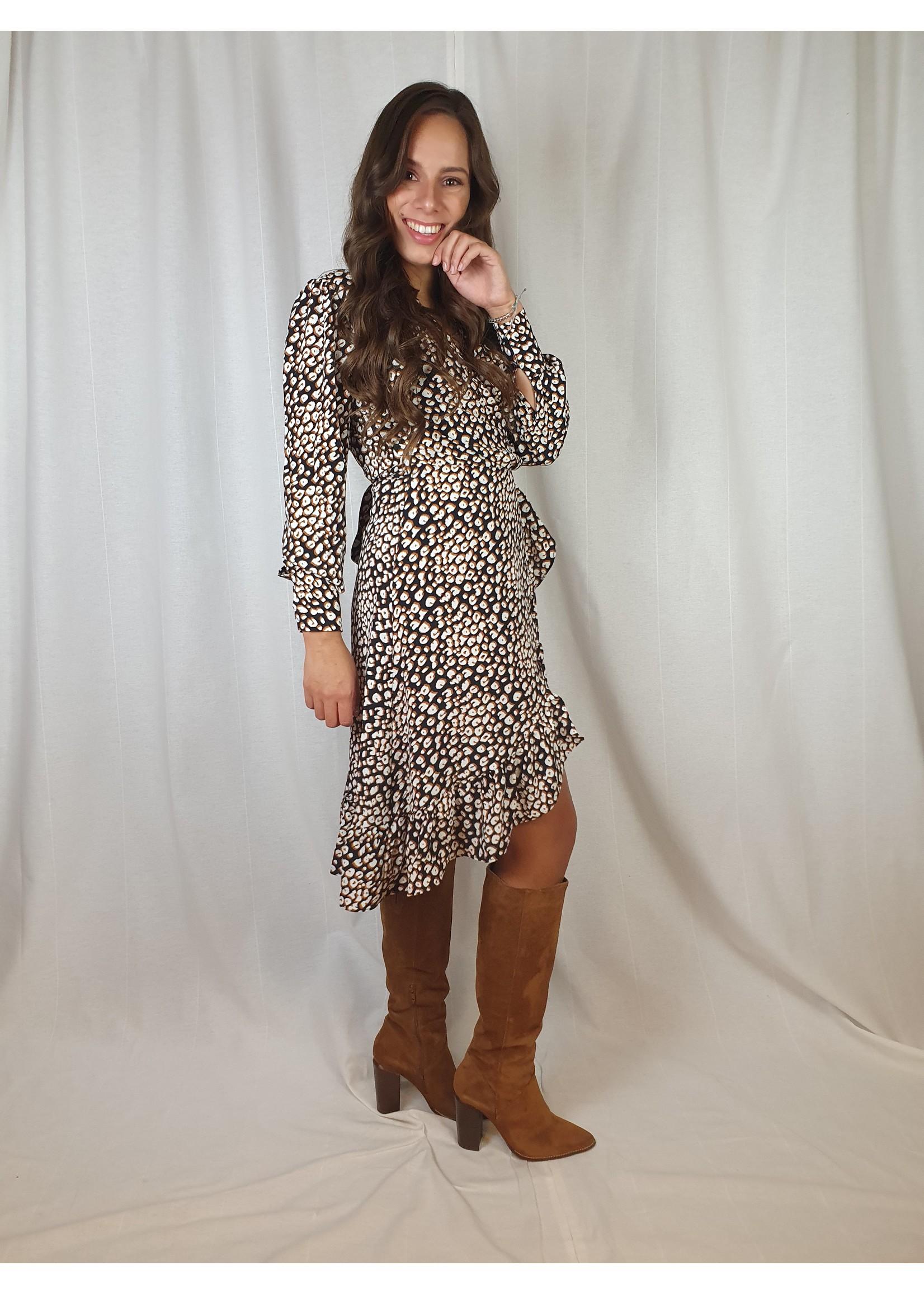 Ladybugs Bella wikkel jurk D252 Leopard